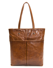 Burnished Italian leather makes Frye's Melissa Simple Tote gorgeous from the get-go.