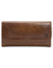 Organize your essentials in effortless style with the antiqued leather Frye Melissa Wallet.