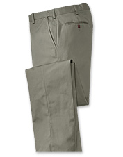 Our men's comfort-waist stretch chino pants boast classic styling.