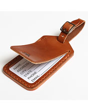 This leather luggage tag from Todder makes a refined accessory for the discerning traveler.