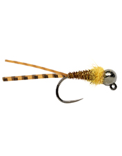 Catch rocky, fast-water fish with the Flagler's Euro Golden Stone Jig's hook-up presentation.