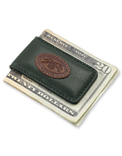 The crossed rods motif on our Classic Leather Money Clip will speak to the angler on your list.