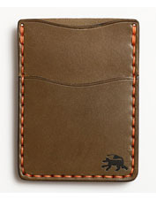 Todder does the money clip wallet right in this handsome hand-stitched leather version.
