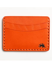 The rugged Five-Pocket Wallet from Todder is hand stitched in buttery English bridle leather.