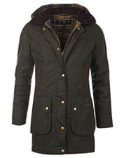 Timeless, cozy-warm, and flattering: The waxed cotton Barbour Bower Jacket ticks all the boxes.