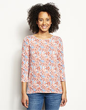 A colorful Orvis-exclusive print dresses up our stretchy, relaxed tee, perfect for casual days.