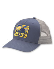 A retro mountain graphic sets off the Orvis Bent Rod logo on our comfortable cotton hat.