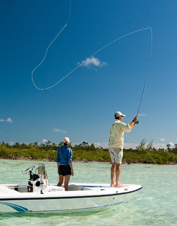 Experience exceptional bonefishing only minutes from the resort's dock.