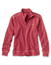 A cotton and Tencel™ blend makes our Angler's Quarter-Zip Sweatshirt soft and moisture wicking.