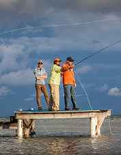 You'll enjoy the bonefishing and the beautiful scenery on this fly fishing trip in Belize.