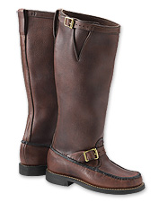 Our snake proof leather boots have a classic upland hunting style. Made in USA.