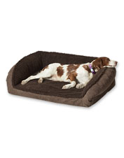 We improved our fleece cover to make the Orvis ComfortFill-Eco Bolster Dog Bed even better.