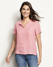 Our plaid Sweetwater Popover is a performance shirt in breezy, lightweight linen.