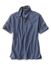 Our Indigo Stripe Polo is a winning warm-weather shirt style that only improves with wear.