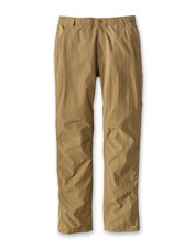 Our Men's Ultralight Pants feature rugged Supplex® nylon with water-repellent properties.