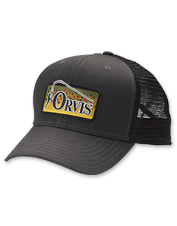 Recycled materials make up this eco-friendly hat, featuring the iconic Orvis Bent Rod logo.