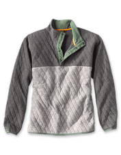 Cotton jacquard gives our Outdoor Quilted Colorblock Sweatshirt just-right heft and warmth.