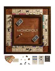 Our Heirloom Monopoly Set includes wood components made for generations' worth of play.