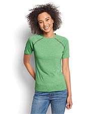 Enjoy breathable comfort for fishing and more in this pretty women's short-sleeved T-shirt.