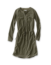 Perfect for travel, our easy-care Florence popover dress dries quickly and resists wrinkles.