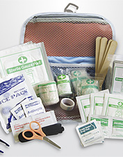 Our canine first aid kit has everything you need if you have a pet emergency.