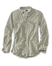 This nicely appointed long-sleeved button-up shirt will go with you on any adventure.