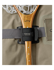 Keep your fly fishing net secure and out of the way until you need it.