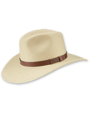 Dodge the rays with this snappy handwoven Western style straw hat.