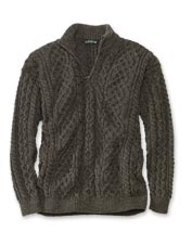 Make this genuine Irish wool cable knit pullover sweater your go-to for blustery weather.