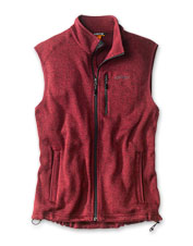 You'll enjoy the traditional styling and superior warmth of our men's fleece sweater vest.