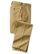You'll want to wear these wrinkle-free cotton twill chinos for men at home and on the road.