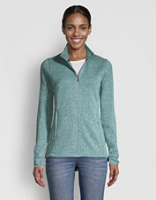 Our Marled Sweater-Fleece Jacket: the perfect mid- or lightweight outer layer.