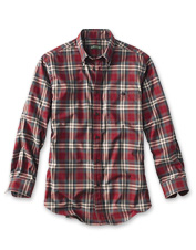Choose this men's button-down shirt for its soft  cotton twill and classic features.