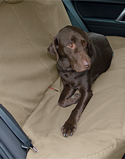 Our custom dog car seat covers make it easy to bring your companion anywhere. Made in USA.