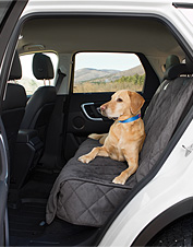 Our microfiber backseat covers for dogs protect your car from dirt, hair, moisture, and mud.