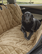 Our deluxe hammock seat protector shields your car interior from dog hair, dirt, and moisture.