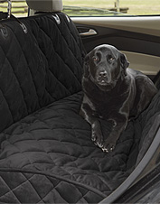 Our deluxe quilted hammock seat protector shields your car from dog hair, dirt, and moisture.