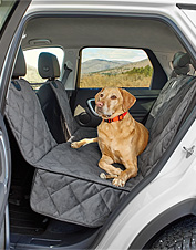 Our Grip-Tight Windowed Hammock Seat Protector allows your canine co-pilot a better view.