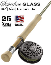 This 6-weight fiberglass fly rod delivers incredibly accurate and delicate presentations.