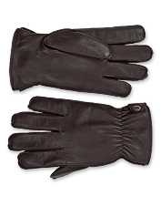 Choose these rugged men's deerskin leather gloves for superior warmth and luxurious softness.