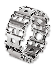 The functional tools you need are at your fingertips in this Leatherman multi-tool bracelet.