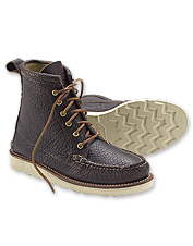 Textural bison leather and rugged construction make these boots superior men's footwear.