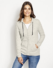 Pure cashmere transforms this comfortably casual hooded sweatshirt into an indulgent sweater.