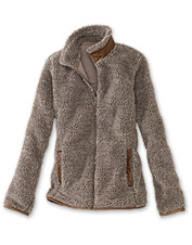 Three-season comfort is yours in this flattering women's stand collar fleece jacket.