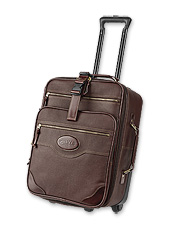 Our carry-on rolling suitcase is just the right size for all your belongings.
