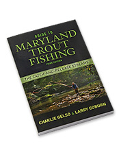 Learn the intricacies of Maryland trout streams with this essential fly fishing book.