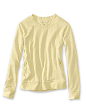 This appealing French terry cotton crewneck sweatshirt will be your season-long companion.