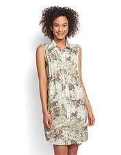 We included flattering, feminine details in our cool, lightweight linen tank dress.