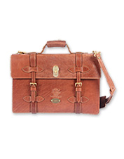 Effortlessly classic, this buffalo hide leather briefcase is beautifully handmade.