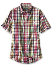 Earn the casual comfort of a worn-to-perfection favorite with our Signature Madras Shirt.